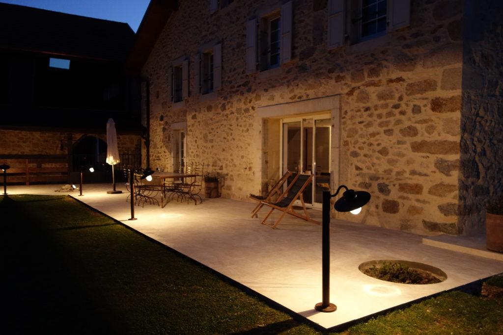 eclairage de terrasse exterieur Éclairage extérieur du0027une terrasse à Cessy